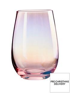 premier-housewares-frosted-deco-hiball-tumbler-glasses-ndash-set-of-4
