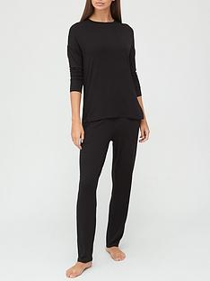 v-by-very-value-long-sleeve-t-shirt-amp-trouser-lounge-pyjamasnbsp--black