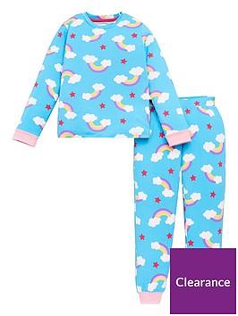 chelsea-peers-girls-recycled-rainbow-long-sleeve-pyjamas-blue