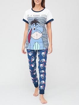 winnie-the-pooh-morning-person-eeyore-pyjama-set-navy
