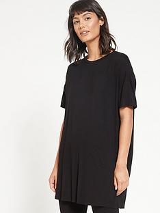 v-by-very-value-longline-t-shirt-amp-legging-lounge-pyjamasnbsp--black