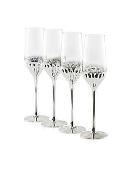 waterside-platinum-art-deco-champagne-flute-glasses-ndash-set-of-4