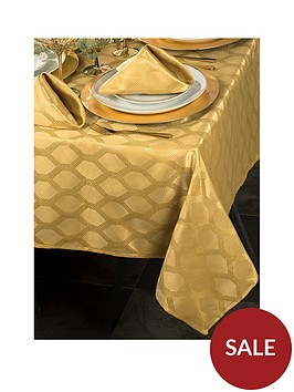 waterside-9-piece-gold-geo-christmas-table-linen-set