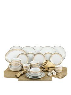 waterside-50-piece-gold-sparkle-dinner-set