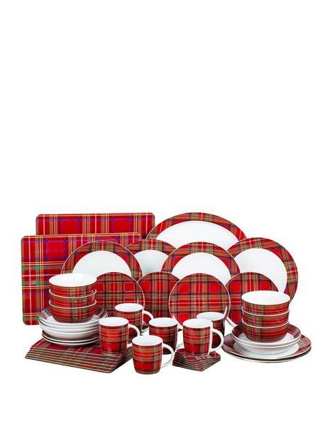 waterside-tartan-45-piece-dinner-set-for-6-people
