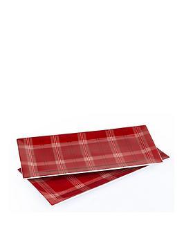 waterside-set-of-2-piece-highland-tartan-christmasnbspserving-platters