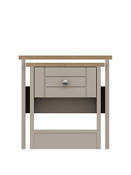 Product photograph showing Alderley Ready Assembled Nest Of Tables - Rustic Oak Taupe