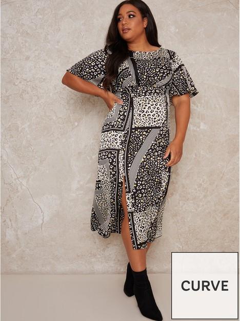 chi-chi-london-curve-vida-curve-printed-midi-dress-monochrome