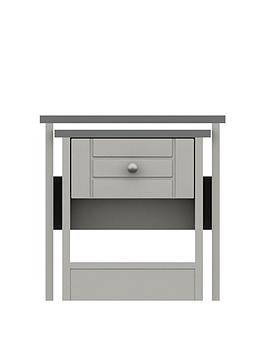 Product photograph showing Alderley Ready Assembled Nest Of Tables - Grey