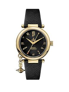 vivienne-westwood-vivienne-westwood-orb-heart-black-and-gold-detail-charm-dial-black-leather-strap-ladies-watch