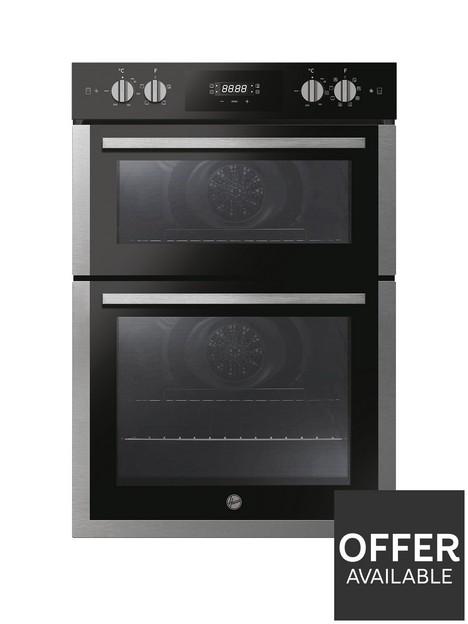 hoover-h-oven-300nbspho9dc3ub308bi-90cm-built-under-double-oven--nbspblack-amp-stainless-steel