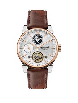 ingersoll-ingersoll-the-swing-white-and-rose-gold-detail-moonphase-automatic-dial-brown-leather-strap-watch