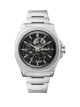 ingersoll-ingersoll-the-orville-black-and-silver-detail-skeleton-automatic-dial-stainless-steel-bracelet-watch