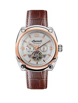ingersoll-ingersoll-the-michigan-silver-and-gold-detail-automatic-dial-brown-leather-strap-watch