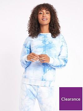 chelsea-peers-tie-dye-lounge-sweat-top-blue