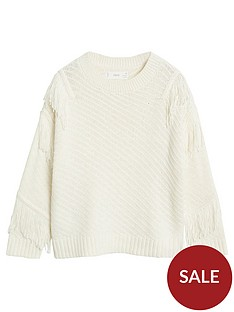 mango-girls-fringe-knitted-jumper-cream
