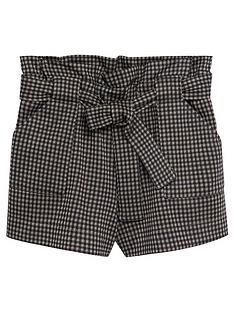 mango-girls-dogtooth-shorts-brown