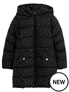 mango-girls-spot-print-hooded-padded-coat-black