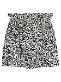 mango-girls-printed-elasticated-waist-skirt-blackwhite