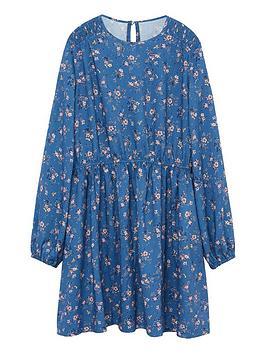 mango-girls-floral-long-sleeve-dress-blue