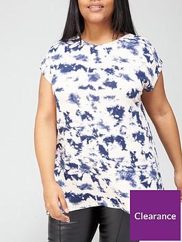 v-by-very-curve-printed-longline-t-shirt-tie-dye