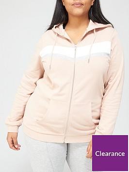 v-by-very-curve-chevron-colour-block-zip-through-hoodie-blush