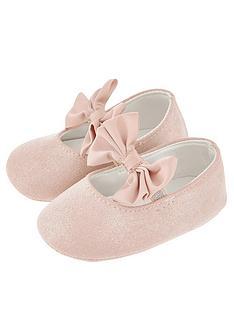 monsoon-baby-girls-lottie-satin-bow-bootie-pink