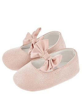 monsoon-baby-girls-lottie-satin-bow-bootie-pink