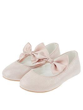 monsoon-baby-girls-lottie-satin-bow-walker-pink