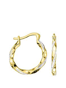 evoke-gold-plated-sterling-silver-clear-swarovski-crystals-twisted-hoop-creole-earrings