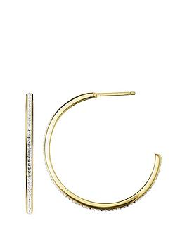evoke-gold-plated-sterling-silver-clear-swarovski-crystals-half-hoop-earrings