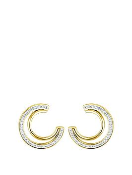 evoke-gold-plated-sterling-silver-clear-swarovski-crystals-double-crescent-stud-earrings