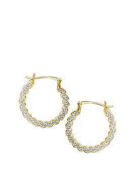 evoke-gold-plated-sterling-silver-clear-swarovski-crystals-swirl-hoop-earrings