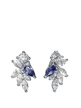 the-love-silver-collection-rhodium-plated-sterling-silver-pear-white-and-tanzanite-cubic-zirconia-mixed-cut-stud-earrings