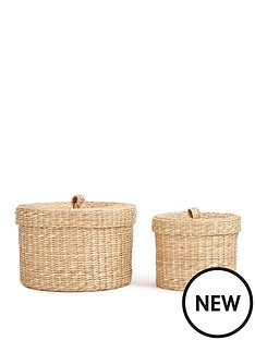 set-of-2-round-seagrass-boxes
