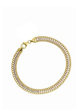 love-gold-9ct-yellow-and-white-gold-three-row-link-bracelet