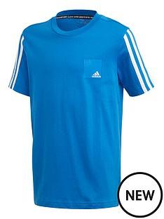 adidas-junior-boys-dmhnbsplogo-short-sleevenbspt-shirt-bluewhite