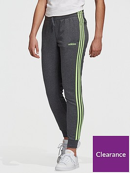 adidas-essentials-3-stripe-pants-dark-grey-heather