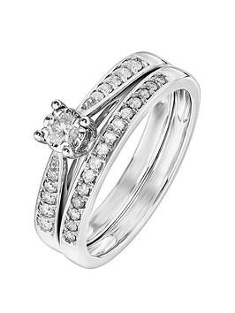 love-diamond-9ct-white-gold-30-point-diamond-bridal-set