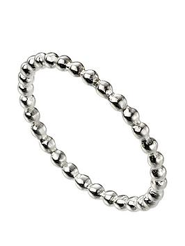 the-love-silver-collection-sterling-silver-thin-beaded-band-ring