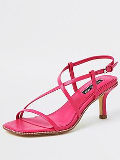 river-island-low-heel-strappy-sandal-pink