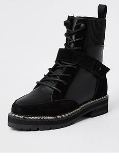 river-island-leather-lace-up-hiker-boot-black