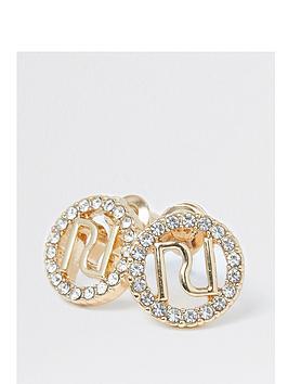 river-island-ri-logo-pave-stud-earring-gold
