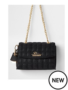 river-island-branded-quilted-satchel-bag-black