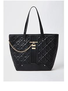 river-island-quilted-stud-padlock-shopper-black