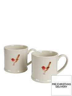 gisela-graham-set-of-2nbspceramic-christmas-robin-mini-mugs
