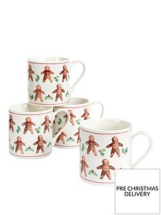 gisela-graham-set-of-2nbspgingerbread-men-christmasnbspmugs
