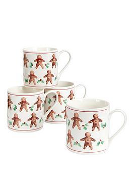 gisela-graham-set-of-2nbspgingerbread-men-christmasnbspmugs