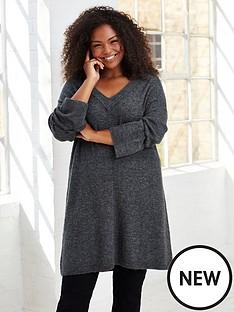 evans-knitted-v-neck-tunic-greynbsp