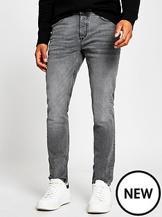 river-island-washed-slim-fit-jeans-grey